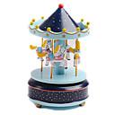ieftine Music Box-Cutie muzicală Carusel Merry Go Round Drăguț Plastic Unisex Jucarii Cadou