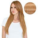 povoljno Ekstenzije za kosu-S kopčom Proširenja ljudske kose Ravan kroj Ljudska kosa Ekstenzije od ljudske kose Žene Jagoda blond