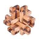ieftine Cuburi Magice-Puzzle Puzzle Lemn Jocuri IQ Test de inteligenta De lemn Unisex Băieți Fete Jucarii Cadou