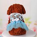 رخيصةأون أطقم المجوهرات-كلب الفساتين ملابس الكلاب أزرق زهري كوستيوم قطن دانتيل كاجوال / يومي الرياضات XS S M L XL