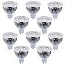 povoljno LED žarulje s nitima-10pcs 5.5 W LED reflektori 450-500 lm MR16 4 LED zrnca Visokonaponski LED Ukrasno Toplo bijelo Hladno bijelo 12 V / RoHs