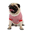ieftine Fâșii Becurie LED-Pisici Câine Tricou Hanorca Γιλέκο Îmbrăcăminte Câini Rosu Albastru Costume Bumbac Dungi Clasic Nuntă Casul / Zilnic XS S M L