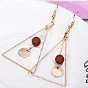 povoljno Naušnice-Žene Viseće naušnice Geometrijski dame Simple Style Naušnice Jewelry Obala / Crn / Kava Za Dnevno