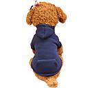 ieftine Imbracaminte & Accesorii Căței-Câine Hanorace cu Glugă Îmbrăcăminte Câini Fucsia Verde Rosu Costume Bumbac Mată Modă XS S M L