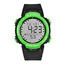 رخيصةأون ساعات الرجال-رجالي نسائي ساعة رياضية ساعة رقمية رقمي سيليكون أسود 30 m رقمي أحمر أخضر أزرق
