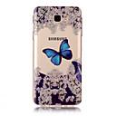 voordelige Galaxy J7 Hoesjes / covers-hoesje Voor Samsung Galaxy J7 Prime / J7 (2016) / J7 IMD / Transparant / Patroon Achterkant Vlinder Zacht TPU