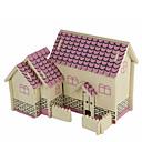 رخيصةأون 3D الألغاز-بانوراما الألغاز قطع تركيب3D اللبنات DIY اللعب معمارية خشب ألعاب البناء و التركيب