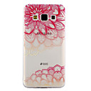 voordelige Galaxy A8 Hoesjes / covers-hoesje Voor Samsung Galaxy A3 (2017) / A5 (2017) / A5 Transparant / Reliëfopdruk / Patroon Achterkant Lace Printing Zacht TPU