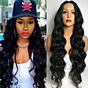 Synthetic Wig Body Wave Kardashian Style Capless Wig Black Natural Black Synthetic Hair Women's Heat Resistant Black Wig Long