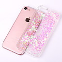 cheap iPhone Cases-Case For Apple iPhone X / iPhone 8 Plus / iPhone 8 Flowing Liquid / Transparent Back Cover Glitter Shine Hard PC