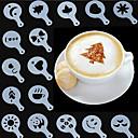 ieftine Ustensile & Gadget-uri de Copt-mucegai cafea lapte tort cupcake șablon șablon cafea barista cappuccino șablon strew pad praf spray instrument