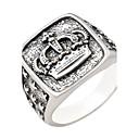رخيصةأون مجوهرات الجسم-نسائي الزوجين خاتم فضي سبيكة Geometric Shape أساسي زفاف مجوهرات منقوش