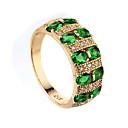 ieftine Inele-Pentru femei Inel Sintetic Emerald Verde Închis Zirconiu Aliaj femei Design Unic Modă Nuntă Ocazie specială Bijuterii