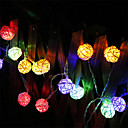 LED String Lights 2M 20led LED Battery Garland Rattan Ball  Battery Garland Rattan Ball DropPartyParty Patio Christmas Wedding Decoration Fairy Lights