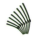 ZIQIAO 2PCS Auto Car Windshield Wiper Blade Universal U-type Frameless Bracketless Blade 14 16 17 18 19 20 21 22 23 24 26 28 inch