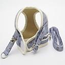 رخيصةأون أطواق ومقاود الكلاب-قط كلب أربطة المقاود قابل للتعديل وردة قماش أصفر أزرق زهري