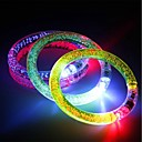 ieftine Lumini & Gadget-uri LED-3pcs lumina bratara bratara lumina lumina emitând brățară electronică brățară luminos stralucitoare pentru bar de Crăciun