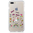voordelige Galaxy J-serie hoesjes / covers-hoesje Voor Apple iPhone 7 Plus / iPhone 7 / iPhone 6s Plus IMD / Transparant / Patroon Achterkant Eenhoorn / Cartoon Zacht TPU