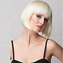 ieftine Peruci & Extensii de Păr-Peruci Sintetice Drept Drept Tunsoare bob Cu breton Perucă Blond Mediu Negru Maro Închis Blond Rosu Păr Sintetic Pentru femei Cu Bangs Blond