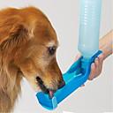رخيصةأون مستلزمات وأغراض العناية بالكلاب-قط كلب الطاسات وزجاجات بلاستيك مقاوم للماء المحمول لون سادة أحمر أزرق زهري السلطانيات والتغذية