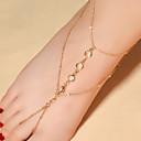ieftine Bijuterii de Corp-Pentru femei Cristal Sandale Desculț picioare bijuterii Picătură Plin de graţie femei Modă Cristal Brățară Gleznă Bijuterii Auriu / Argintiu Pentru Zilnic Casual