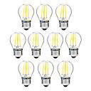 ieftine Îngrijire Unghii-BRELONG® 10pcs 4 W Bec Filet LED 300 lm E27 G45 4 LED-uri de margele COB Intensitate Luminoasă Reglabilă Alb Cald Alb 200-240 V / 10 bc