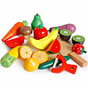 Toy Food / Play Food Play Kitchen Fruits & Vegetables Fruit & Vegetable Cutters compatible Wooden Legoing Magnetic Classic Boys' Girls' Toy Gift / Kids / Kid's