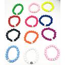 ieftine Spoturi LED-Pentru femei Brățări cu Mărgele femei Vintage Natură Modă Reșină Bijuterii brățară Verde / Roz / Albastru Deschis Pentru Cadou