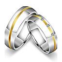 ieftine Inele-Pentru femei Pentru cupluri Inele Cuplu Band Ring Inel Titan Zirconiu Cubic Oțel titan Rotund Clasic Vintage stil minimalist Nuntă Petrecere Bijuterii Prinţesă / Aniversare / Zi de Naștere / Logodnă