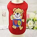 رخيصةأون ملابس وإكسسوارات الكلاب-قط كلب T-skjorte سترة ملابس الكلاب أحمر أزرق زهري كوستيوم قطن حيوان كاجوال / يومي XS S M L XL XXL