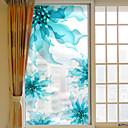 رخيصةأون الستائر-الأزهار/النباتية ملصق النافذة, PVC/Vinyl مادة نافذة الديكور غرفة المعيشة غرفة حمام شوب / مقهى المطبخ