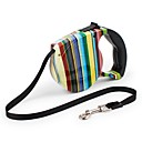 ieftine Ustensile & Gadget-uri de Copt-Pisici Câine Lese Ajustabile Portabil Siguranță Curcubeu Flori Nailon ABS Negru Albastru Curcubeu