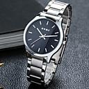 ieftine Ceasuri Bărbați-Bărbați Ceas La Modă ceas mecanic Quartz Alb Analog - Digital Casual - Alb Negru / Oțel inoxidabil