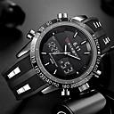povoljno Pametni satovi-Muškarci Ručni satovi s mehanizmom za navijanje digitalni sat Silikon Crna Vodootpornost Kalendar Kreativan Analogni-digitalni Šarm Luksuz Klasik Ležerne prilike Moda - Crn Crvena Plava Dvije godine