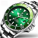 ieftine Brățări-Tevise Bărbați Ceas La Modă Ceas Elegant Ceas de Mână Mecanism automat Oțel inoxidabil Argint 30 m Rezistent la Apă Calendar Creative Analog Charm Lux Sclipici Clasic Casual - Alb Negru Verde