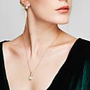 Women's Pearl Synthetic Diamond Jewelry Set Stud Earrings Pendant Necklace Ball Dainty Ladies Bohemian Basic European Fashion Pearl Imitation Pearl Rhinestone Earrings Jewelry White Christmas