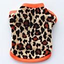 ieftine Imbracaminte & Accesorii Căței-Pisici Câine Haine Tricou Hanorca Iarnă Îmbrăcăminte Câini Negru Leopard Costume Bebeluș Caine mic Lână polară Leopard Petrecere Casul / Zilnic Keep Warm XS S M L