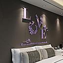 povoljno Prstenje-Romantika Zid Naljepnice 3D zidne naljepnice Dekorativne zidne naljepnice Naljepnice za vjenčanje, Opeka Početna Dekoracija Zid preslikača