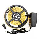 ieftine Benzi De Lumini LED-hkv® 2835 300leds 8mm alb cald rece alb alb flexibil led luminos bara de vacanță petrecere de Crăciun interior bandă led cu bandă 2a alimentare