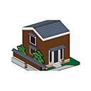 voordelige iPhone 5 hoesjes-3D-puzzels Bouwplaat Modelbouwsets Beroemd gebouw Huis DHZ Klassiek Unisex Speeltjes Geschenk