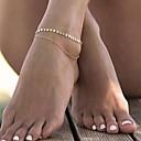 رخيصةأون خلخال-نسائي خلخال هندسي Leaf Shape سيدات بسيط موضة خلخال مجوهرات ذهبي من أجل فضفاض رياضة وترفيه