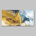 رخيصةأون ديكور الحائط-هانغ رسمت النفط الطلاء رسمت باليد - تجريدي ملخص الحديث كنفا
