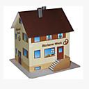 povoljno Muški satovi-3D puzzle Umijeće papira Kuća Uradi sam Tvrda kartica papira Uniseks Igračke za kućne ljubimce Poklon