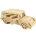 povoljno 3D zagonetke-Igračke auti 3D puzzle Puzzle Letjelica Automobil Uradi sam drven Klasik Terenac Uniseks Dječaci Igračke za kućne ljubimce Poklon / Drveni modeli