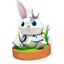 povoljno Oprema za igre na smartphoneu-3D puzzle Papirnata maketa Rabbit Životinje Uradi sam Tvrda kartica papira Dječji Uniseks Igračke za kućne ljubimce Poklon