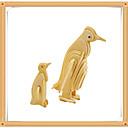 povoljno Naušnice-3D puzzle Puzzle Építőjátékok Penguin Životinje Uradi sam drven Dječji Igračke za kućne ljubimce Poklon
