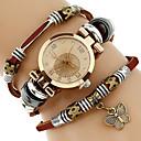 ieftine Ceasuri Damă-Pentru femei femei Ceas Brățară ceasul cu ceas Quartz Wrap Piele PU Matlasată Maro Rezistent la Apă Creative Analog Casual Modă Elegant - Negru Maro Verde Un an Durată de Viaţă Baterie