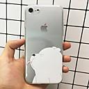 ieftine Părți Motociclete & ATV-Maska Pentru Apple iPhone X / iPhone 8 Plus / iPhone 8 Model Capac Spate Animal / Desene Animate Moale TPU