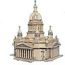 رخيصةأون قلادات-قطع تركيب3D تركيب مجموعات البناء قصر بناء مشهور خشبي الخشب الطبيعي للبالغين للجنسين ألعاب هدية