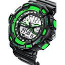 رخيصةأون أساور-رجالي ساعة رقمية رقمي مطاط أسود 50 m مقاوم للماء المنبه رزنامه رقمي أحمر أخضر أزرق / ساعة التوقف / قضية